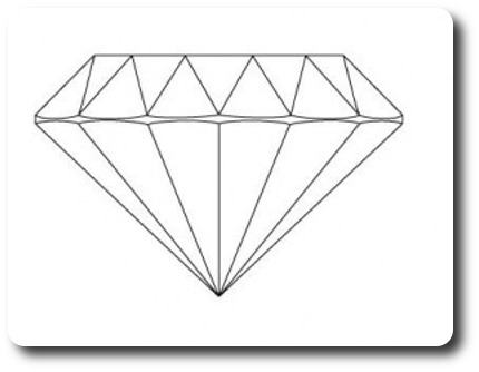 Diamond line drawing | Four Grainer