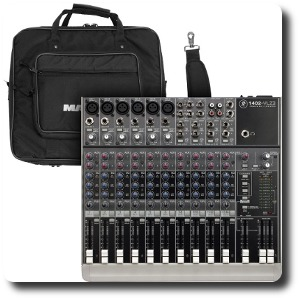 Mackie 1402 VLZ3 Pro Mixer with optional travel bag.