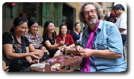 "Ron LeBlanc of ""Gem Hunt"" On The Travel Channel Network At A Gem Market In Vietnam"